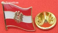 Austria Country Flag - Lapel - Hat - Cap - Tie Pin Badge Republik sterreich New